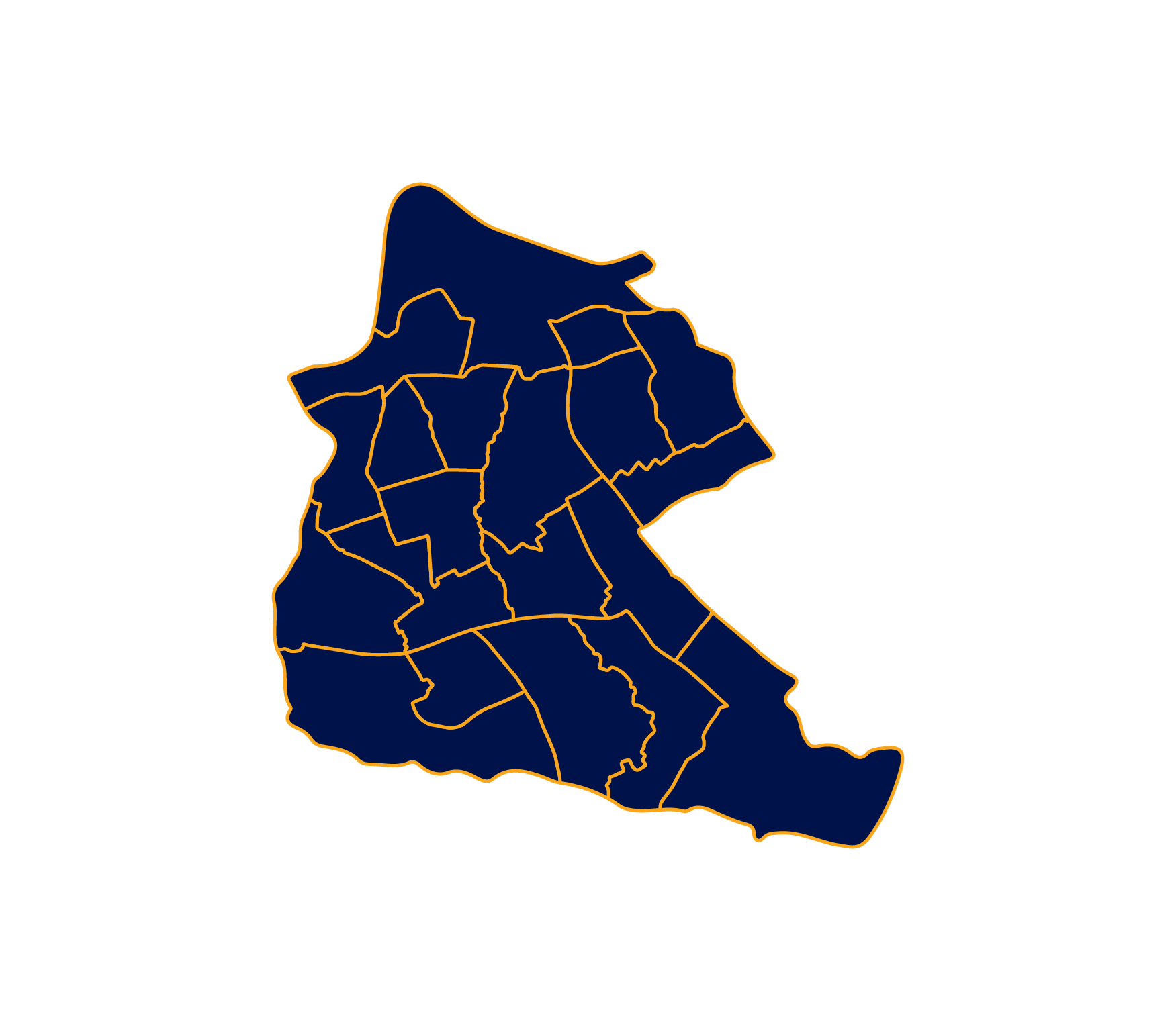 Area map of the Middlesbrough District